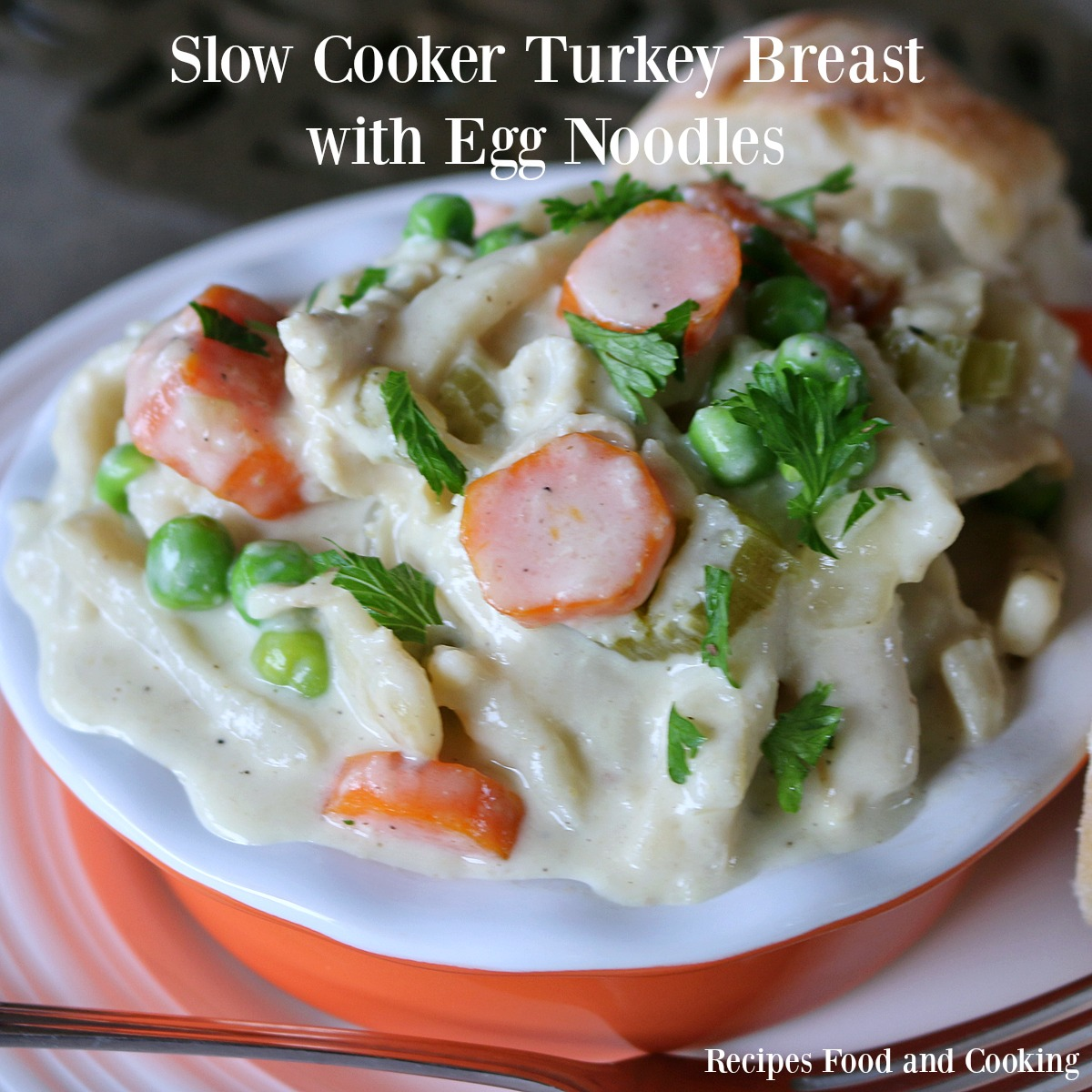 Turkey Cooking Time 15 Lbs >> Slow Cooker Turkey Breast with Egg Noodles from Recipes Food and Cooking