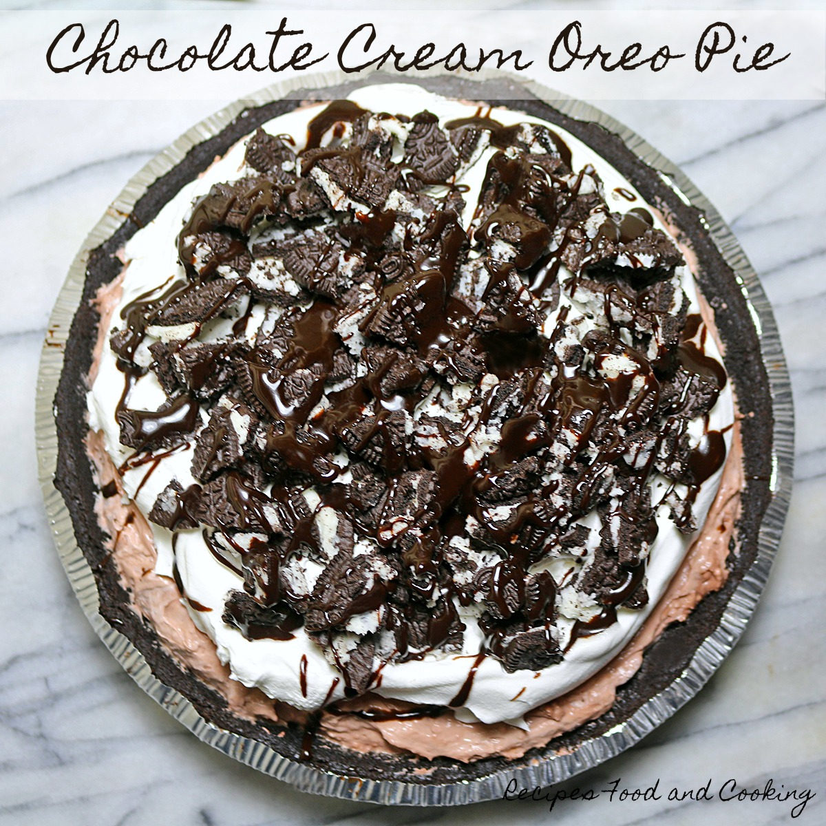 Chocolate Cream Oreo Pie