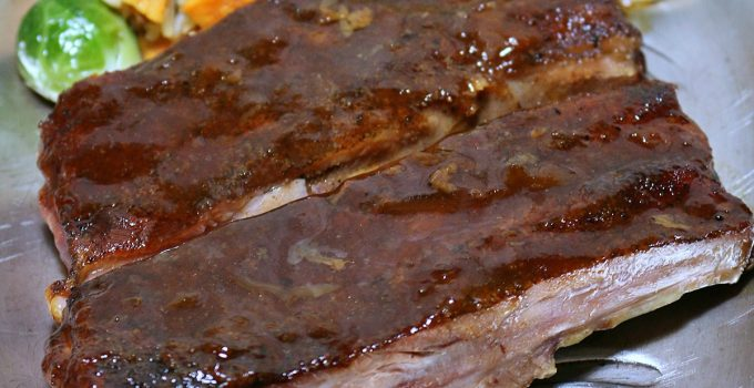 Oven Baked BBQ Ribs with Apricot BBQ Sauce