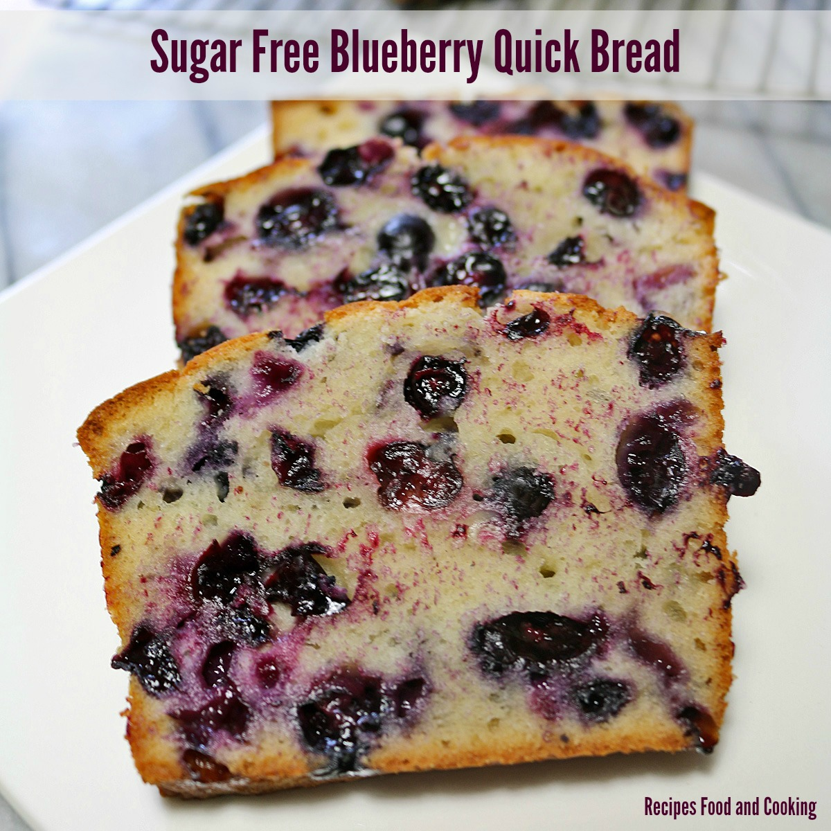 Sugar Free Blueberry Quick Bread