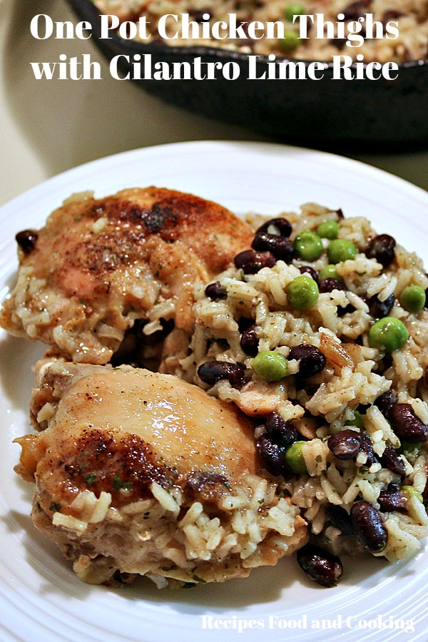 Chicken Thighs with Cilantro Lime Rice