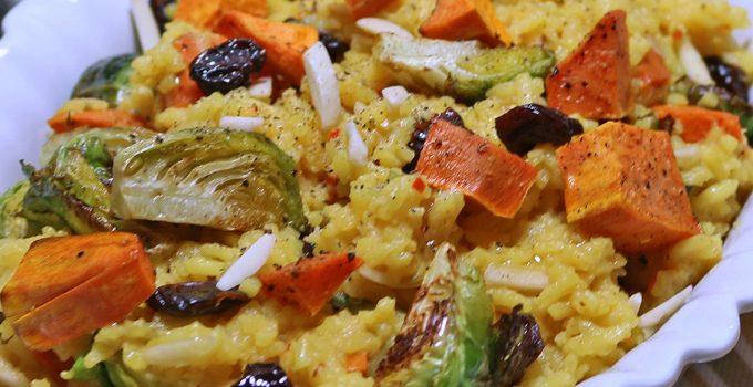 Saffron Yellow Rice with Autumn Vegetables