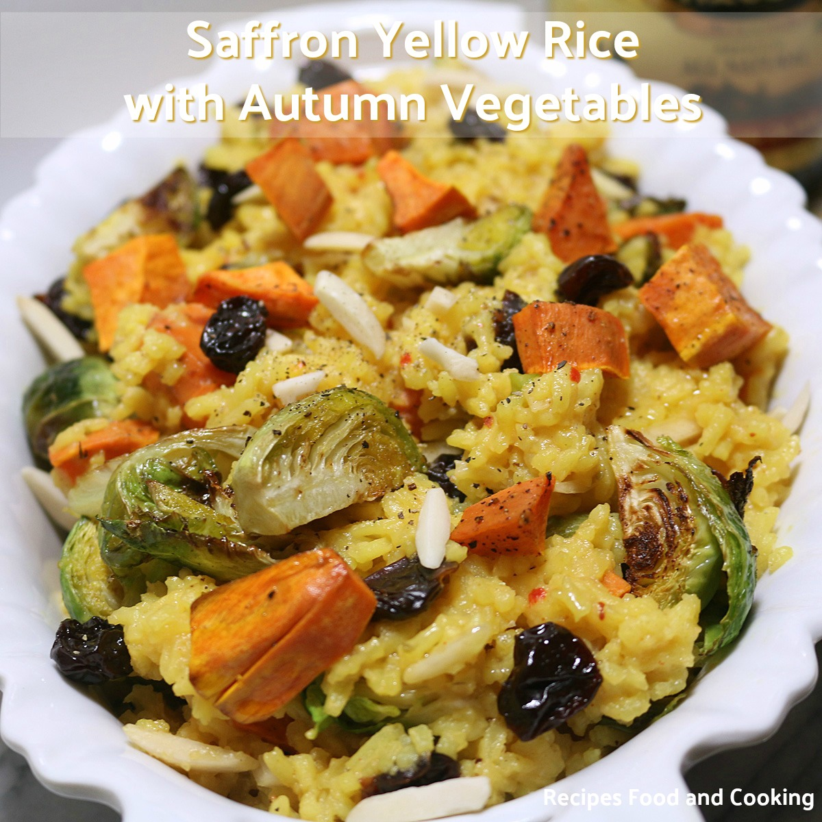 Saffron Yellow Rice with Autumn Vegetables