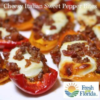 Cheesy Italian Sweet Pepper Bites