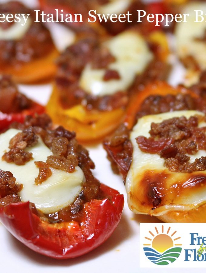 Cheesy Italian Sweet Pepper Bites