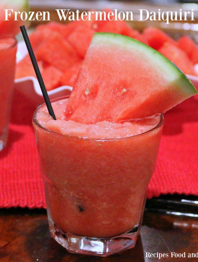 Frozen Watermelon Daiquiri's