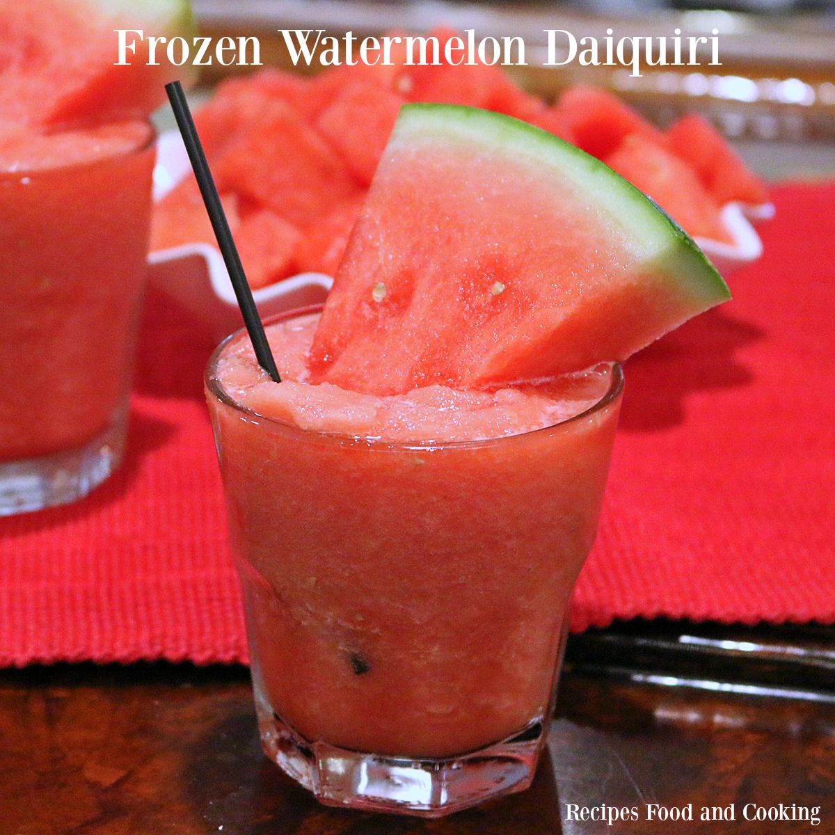 Frozen Watermelon Daiquiri's